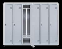 Шкаф для одежды на шесть человек ШОМ 6/240 разборной с перегородкою (толщина 0,5 мм)(1800х2400х500)