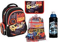Школьный набор - Рюкзак Hot Wheels Kite/пенал/сумка/бутылка Черный