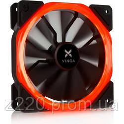 Кулер для корпуса Vinga LED fan-01 red