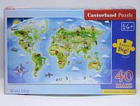 """Пазлы для малышей Макси """"Карта мира"""", 40 элементов"""
