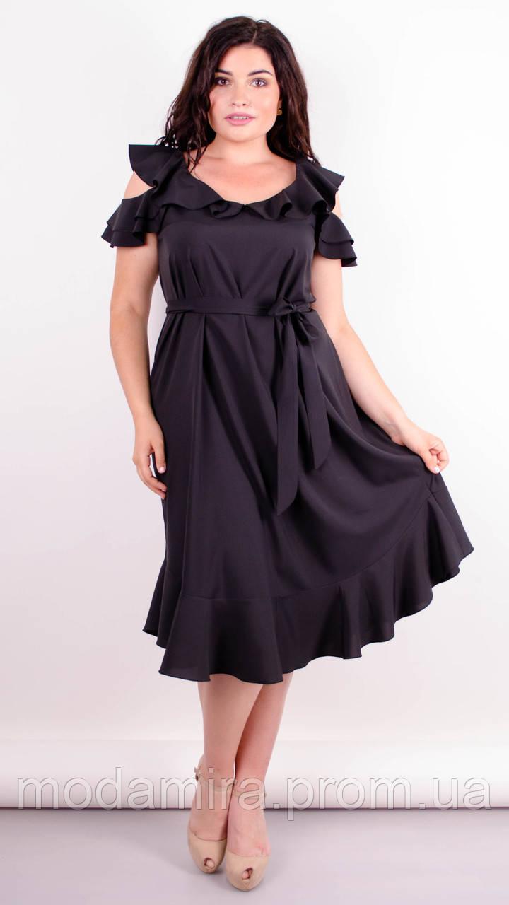 купить красивое черное платье 54 56 размера