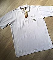 Белая мужская футболка-поло от Dakar размер M евро