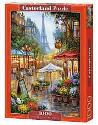 """Пазлы """"Улочки Парижа, Spring flowers, Paris"""", 1000 эл (картина, Франция, цветы)"""
