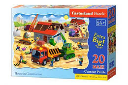 """Пазлы для детей Макси """"Строительство дома"""", 20 элементов"""