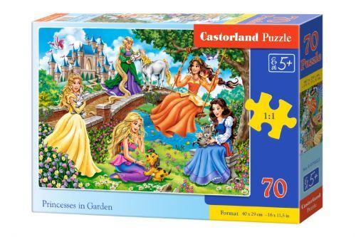 """Пазлы для детей """"Принцессы в саду"""", 70 элементов"""
