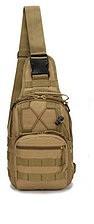 Универсальная тактическая штурмовая сумка-рюкзак, армейская сумка Oxford 600D Песочная