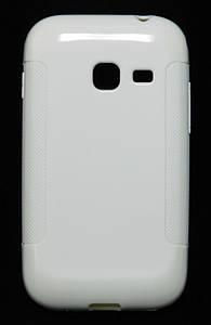 Чехол TPU на Samsung Galaxy Ace Duos S6802 Белый