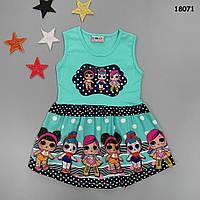 Літнє плаття LOL для дівчинки. Маломірне. 98-104; 110-116; 134-140 см, фото 1