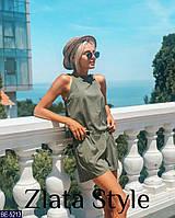 Летний костюм женский однотонный, топ и шорты. Размер 42-44, 44-46. Ткань супер софт, цвет хаки, черный