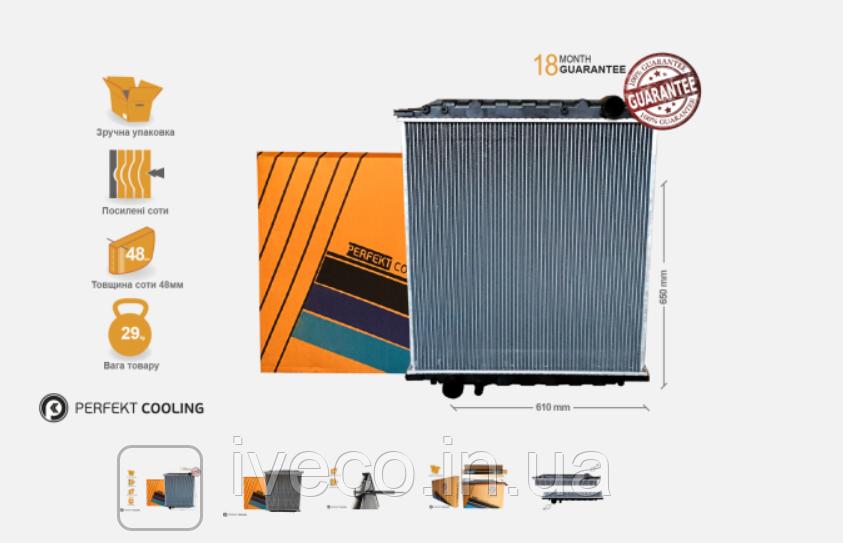 Радиатор охлаждения без рамы  MAN L2000 81061016002