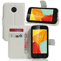 Чехол-книжка Litchie Wallet для Vodafone Smart Mini 7 Белый
