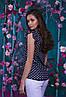 Красивая шифоновая женская блуза   42, 44, 46, 48, фото 6