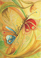 Схема для контурной вышивки бисером «Бабочки»