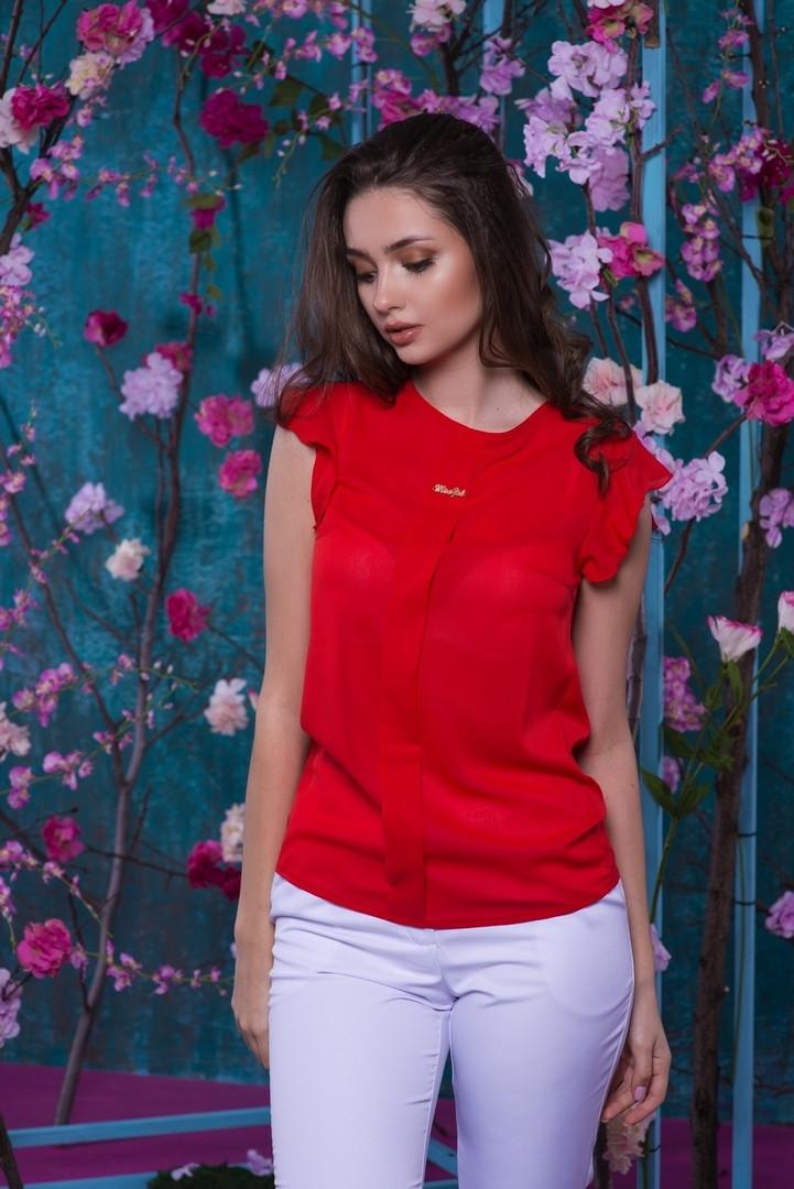 Красивая шифоновая женская блуза   42, 44, 46, 48