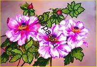 Схема для контурной вышивки бисером «Цветы шиповника»