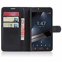 Чехол-книжка Litchie Wallet для Vodafone Smart Ultra 7 Черный