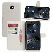 Чехол-книжка Litchie Wallet для Vodafone Smart Ultra 7 Белый