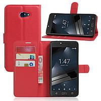 Чехол-книжка Litchie Wallet для Vodafone Smart Ultra 7 Красный