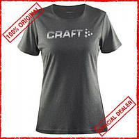 Футболка женская Craft Prime Logо серая 1904342-1975