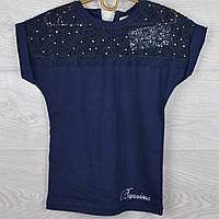 Блузка школьная подростковая #9391 с коротким рукавом. Рост 140-176 см (10-16 лет). Школьная форма оптом