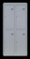 Шкаф для одежды на четыре человека ШОМ 4/60 розборный (толщ.0,5 мм)