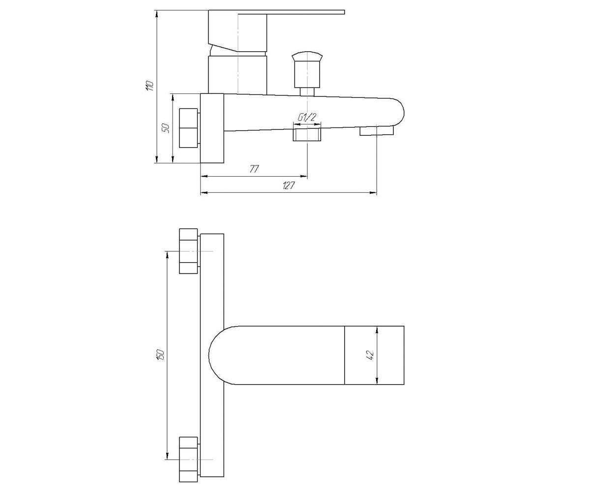 Смеситель с душевым набором GLOBUS LUX SHS-102-M 2