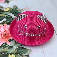 Детская шляпа «Кошечка» со стразами | р. 50-52, фото 1