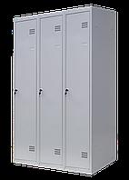 Шкаф для одежды разборной на три человека 3/90(1800х900х500), толщина металла 0,5 мм