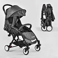 Детская прогулочная коляска W 3310 JOY Книжка цвет темно-серый
