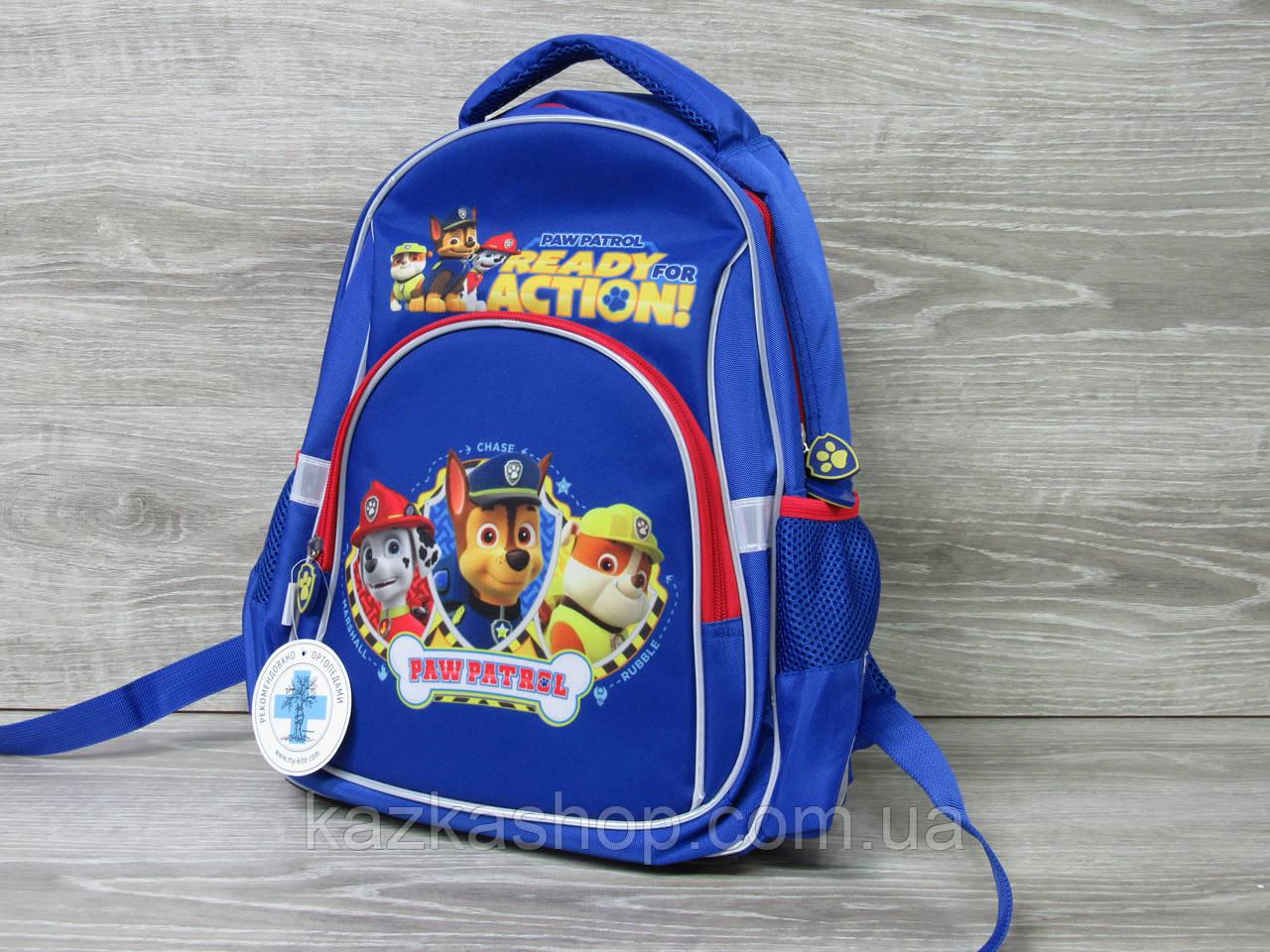 """Прочный рюкзак фирмы Kite, полиэстер, ортопедическая спинка, S-образные лямки, """"Щенячий патруль"""""""