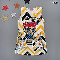 Платье LOL для девочки. Маломерное. 3-4;  5-6;  7-8;  9-10 лет, фото 1