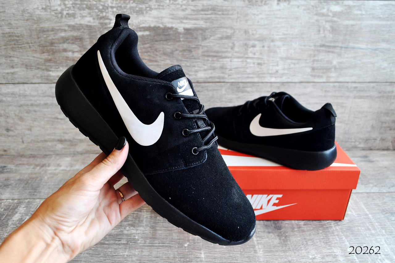 best sneakers 9f68e 27158 Мужские кроссовки Nike Roshe Run Black арт.20262