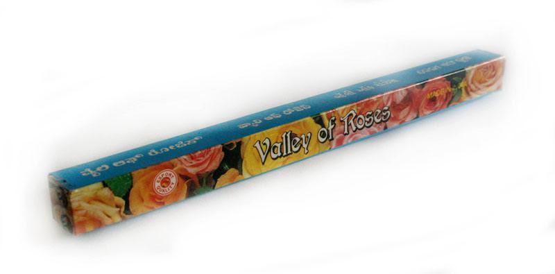 Благовония натуральные Долина роз, Satya VALLEY OF ROSES, 8 шт. в упаковке