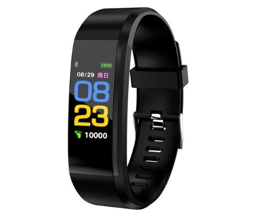 Фитнес браслет с измерением пульса и давления Smart band ID115 PLUS Black