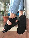 Мужские сандалии в стиле Adidas (full black), сандали Адидас, sandals Adidas (Реплика ААА), фото 2
