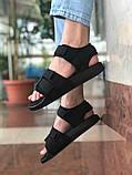 Мужские сандалии в стиле Adidas (full black), сандали Адидас, sandals Adidas (Реплика ААА), фото 3
