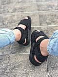 Мужские сандалии в стиле Adidas (full black), сандали Адидас, sandals Adidas (Реплика ААА), фото 6