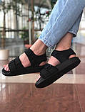 Мужские сандалии в стиле Adidas (full black), сандали Адидас, sandals Adidas (Реплика ААА), фото 4