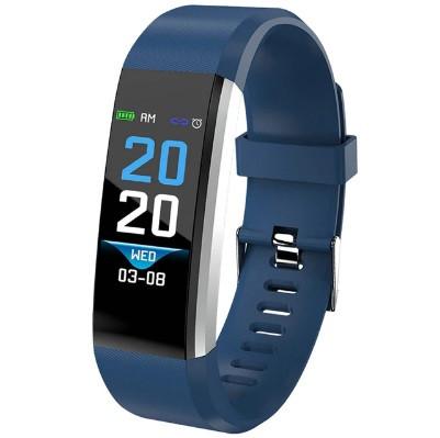 Фитнес браслет с измерением пульса и давления Smart band ID115 PLUS Blue