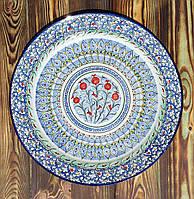Блюдо авторской росписи d 32 см. Риштан, Узбекистан