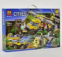 """Конструктор Bela Urban 10713 """"Вертолёт для доставки грузов в джунгли"""" (аналог Lego City 60162), 1298 деталей"""