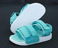 Сандали женские Adidas Sandals реплика ААА+ размер 37-40 бирюзовый (живые фото)