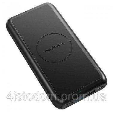 Внешний аккумулятор RavPower Power Bank 10000mAh Wireless Charging Black (RP-PB081), фото 2