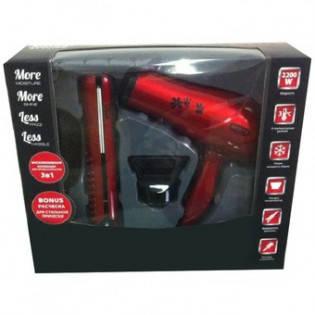 Подарочный набор Rotex RFS31-R ( фен + выпрямитель + щетка для волос), фото 2