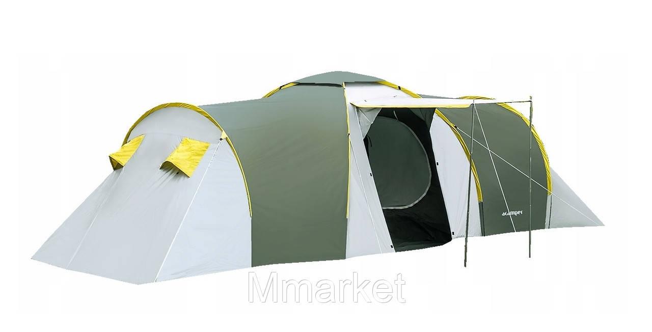 Палатка 6-ти місна Acamper NADIR6 зелена- 3500мм. H2О - 8,7 кг.