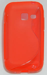 Чехол TPU S формы на Samsung Galaxy Ace Duos S6802 Красный