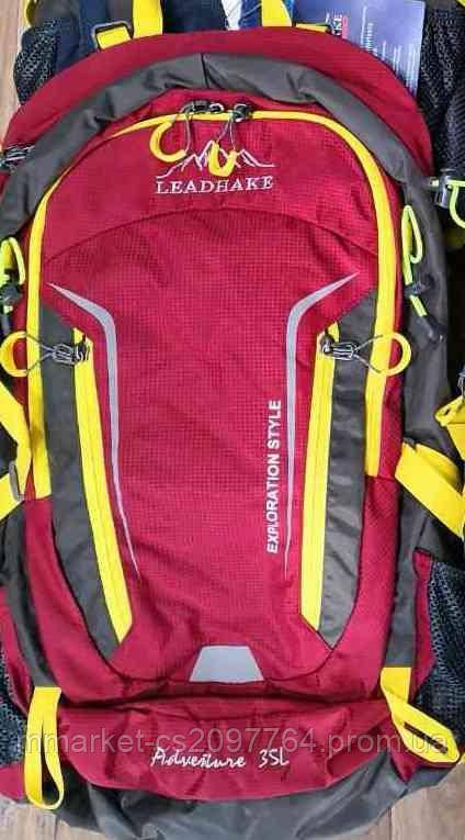 Туристический дорожный рюкзак Lead Hake 35 литров / 35L с металлическим каркасом LeadHake