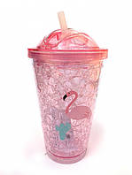 Термостакан Ice Cap Фламинго (Розовый)