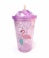 Термостакан Ice Cap Фламинго ( Фиолетовый )