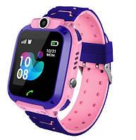 S12 детские умные часы с GPS (pink) - Защита IP67